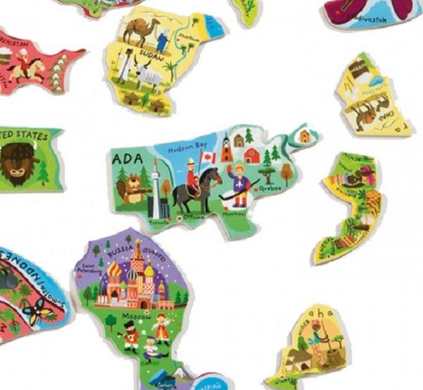 Karta svijeta za djecu s magnetima