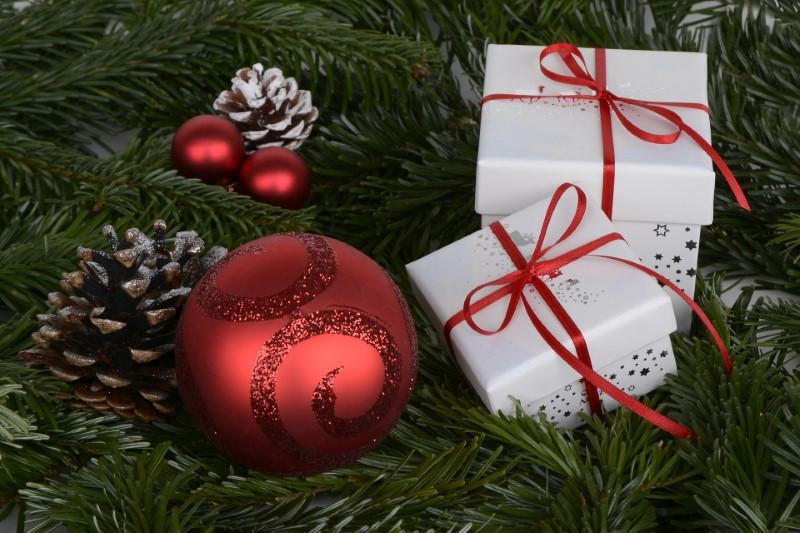 Božićne kuglice crvene boje